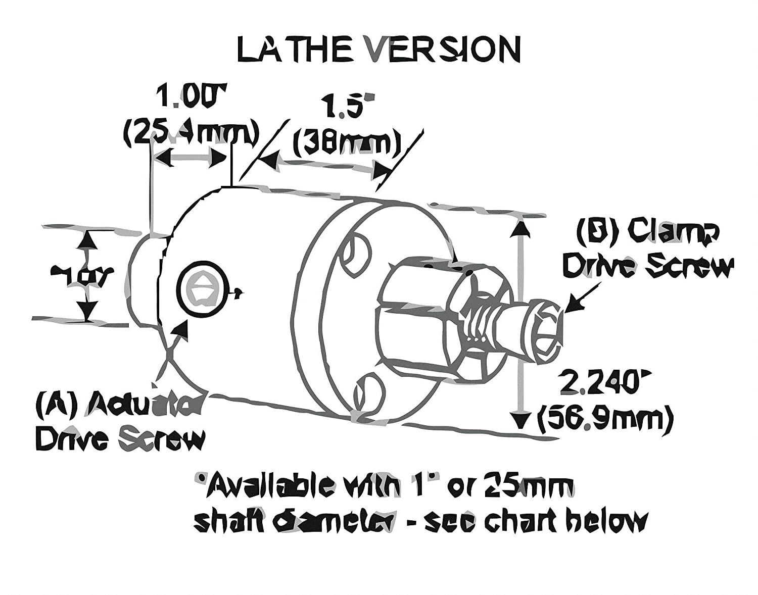 Lathe M10 Cylinder Side Actuated Clamp