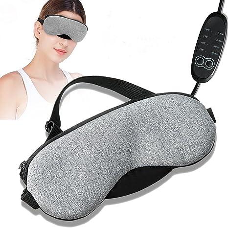 Máscara de Ojo Caliente, Masaje de Ojos Aliviar la Tensión Control de Temperatura Ajustable Máscara