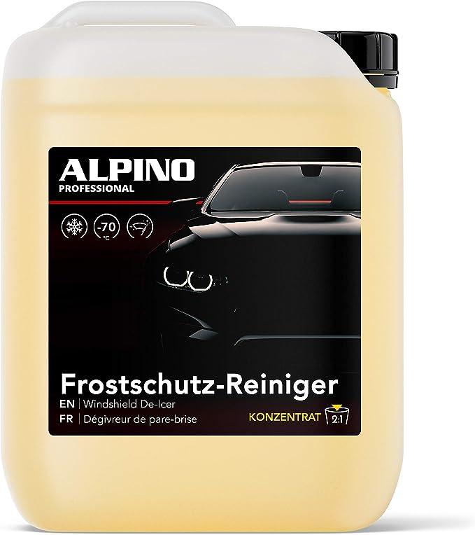 Alpino Scheibenfrostschutz Konzentrat Bis 70 C 10l Ergibt Bis Zu 30l Schlierenfrei Langzeit Frotstschutz Frostschutzmittel Scheibenwaschanlage Scheibenreiniger Auto Fortschutz Auto Baumarkt