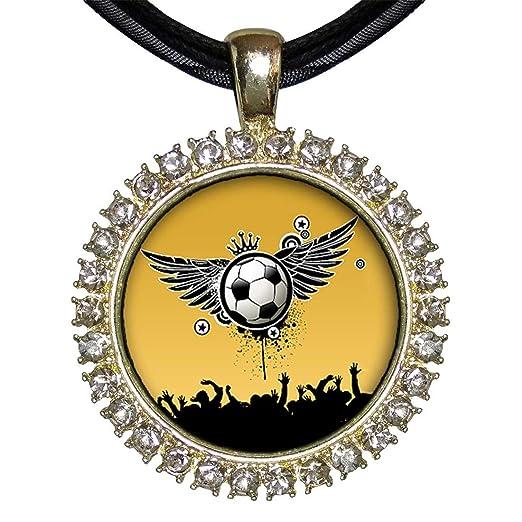 Chapado en oro GiftJewelryShop UEFA Euro balón de fútbol con alas ...