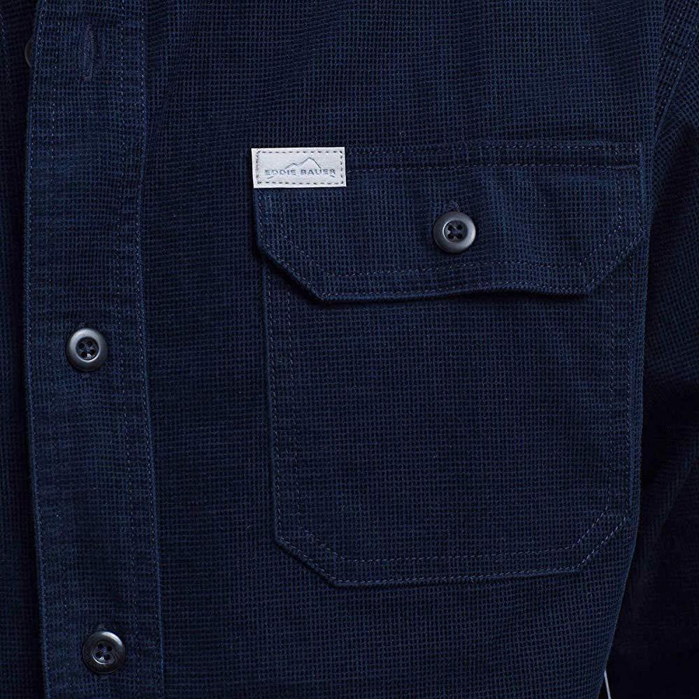 Eddie Bauer Men/'s Crosscut Cord Shirt