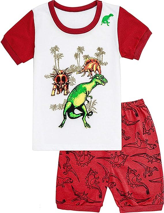 MOMBEBE COSLAND Bambina Pigiama Corto Ragazze Estate Pajamas Set Manica Corta