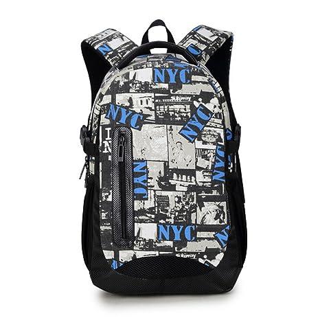Maod adolescentes Lienzo mochilas escolares Impresión Bolso de Escuela Mujer Impermeable mochila portatil 16 Pulgada (