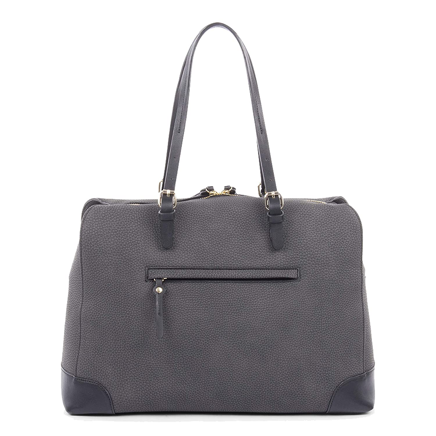 Synthetic Nubuck Trimmed with Synthetic Leather Bugatti Bilbao Ladies Tote Bag Grey