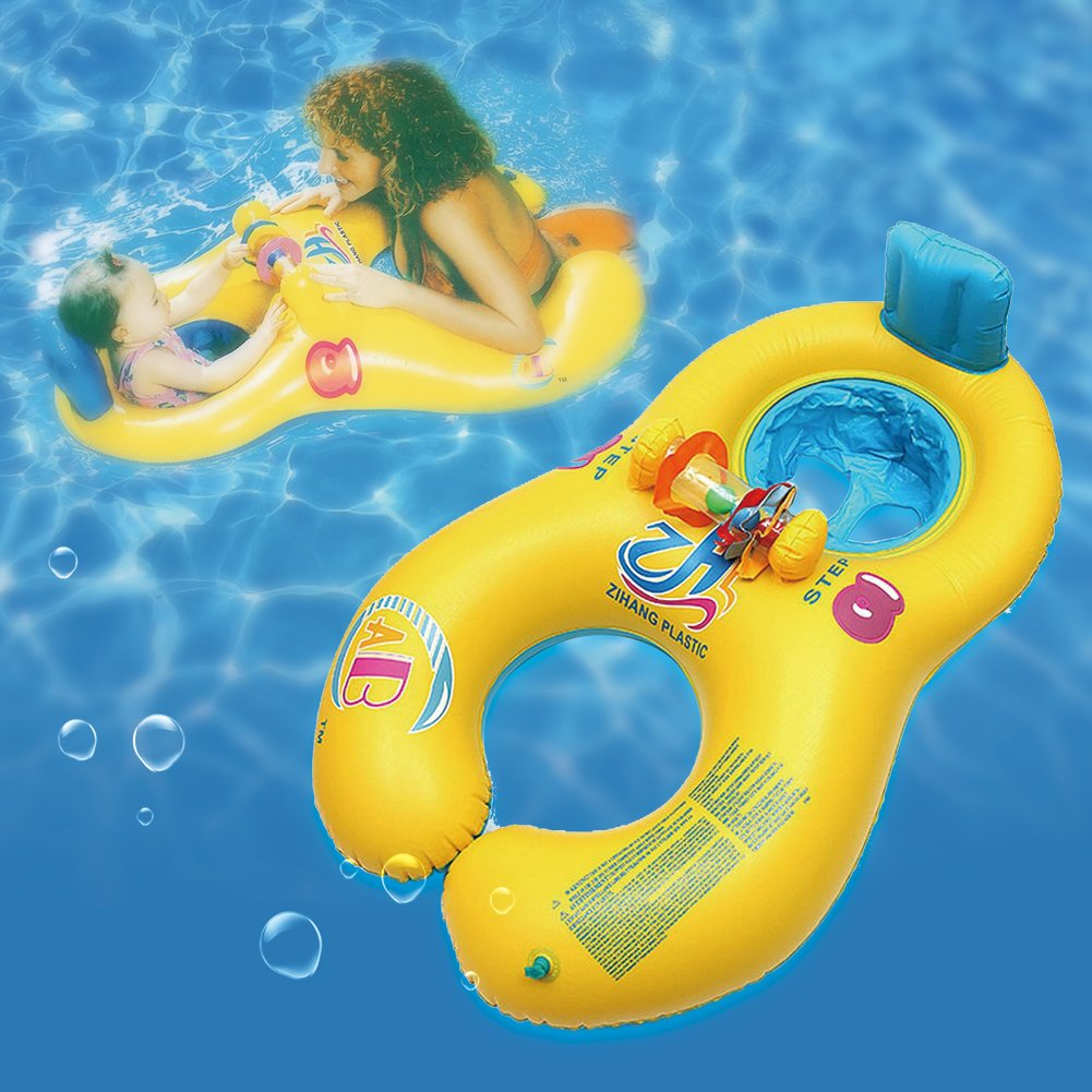 Amazon.com: Pool floats for Mother and Baby Double Inflatable ...