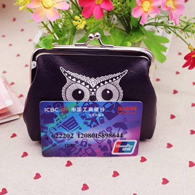 TONSEE Womens Retro Vintage Owl Small Wallet Hasp Purse Clutch Bag