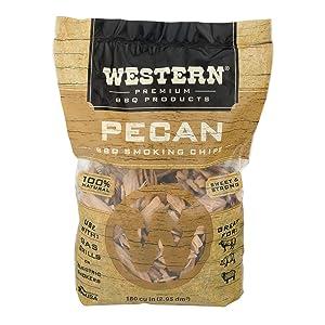 WESTERN 80768 Pecan Smoking Chips, 2.94 L