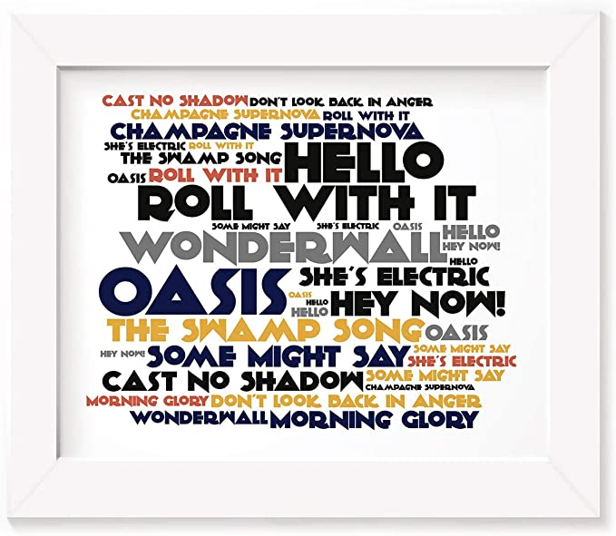 Champagne Supernova By Oasis Song Lyric Pop Music Quote Wall Decor Art Print Rock Pop Entertainment Memorabilia Artists O