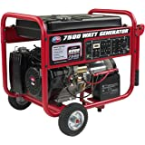 All Power America APGG7500 7500W Gas Portable Generator w/Electric Start, 7500 watts, Black/Red