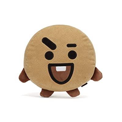 BT21 Official Merchandise by Line Friends - SHOOKY Smile Decorative Throw Pillows Cushion, 16.5 Inch: Kitchen & Dining
