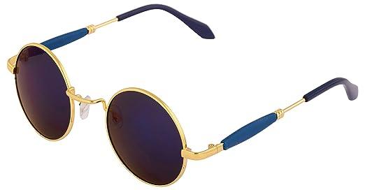 cfff3a4f30a0 Addon Eyewear Round Sunglasses for Men   Women non Polarized Stylish Goggle  (golden blue blue