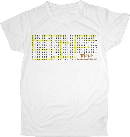 Lolapix Camiseta Profesor y Profesora Personalizada con el Nombre/Texto del Maestro o Maestra | Regalo Original Fin de Curso | Varios diseños Sopa de Letras: Amazon.es: Hogar