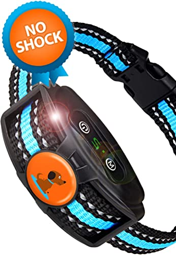Humane Rechargeable Bark Collar for Small Dogs and Medium- NO Shock Anti Barking Dog Collars with Beep Vibration, The Smartest No-Pain Correction with 2 Modes Vibration and Strong Vibration Mode