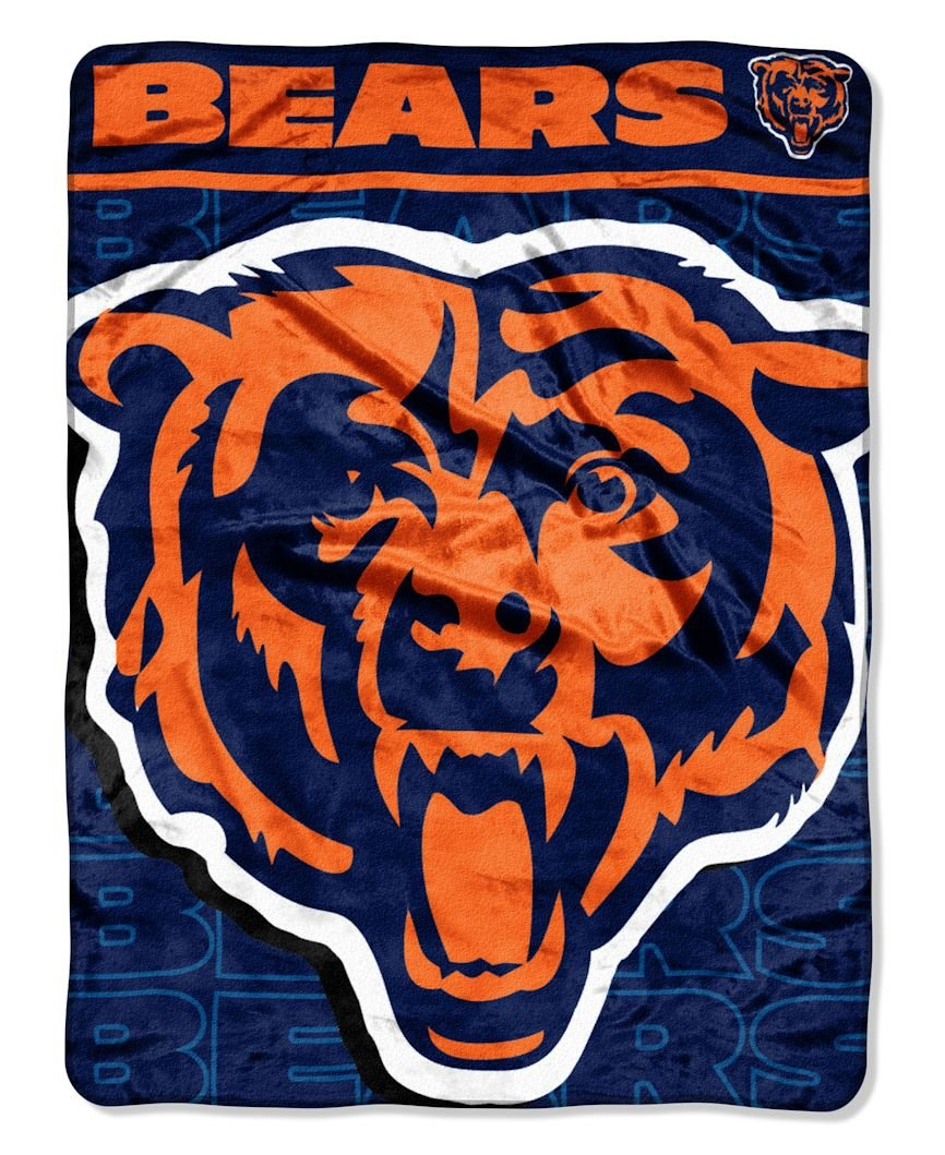 NFL Chicago Bears Micro Raschel Throw Blanket, 46 x 60-Inch by The Northwest Company