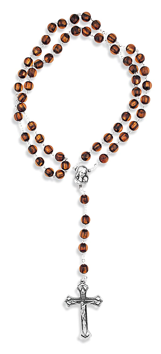 Catholic Cat's Eye Rosary - Made in Italy by Vatican Imports