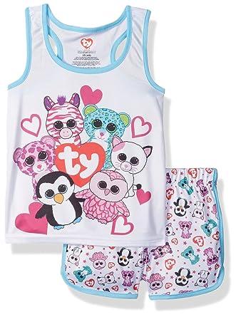 6645d3c501b Amazon.com  Intimo Girls  Ty Beanie Boo Sporty Mesh Pajama Set  Clothing