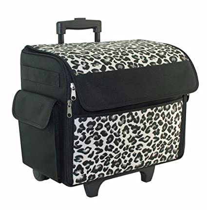 Amazon Cheetah Print Rolling Sewing Machine Tote Sewing Best Sewing Machine Case