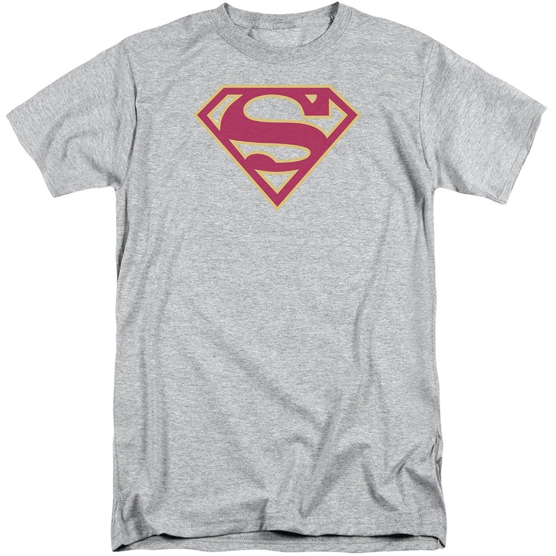 Superman Men's Red - Gold Shield Tall T-Shirt