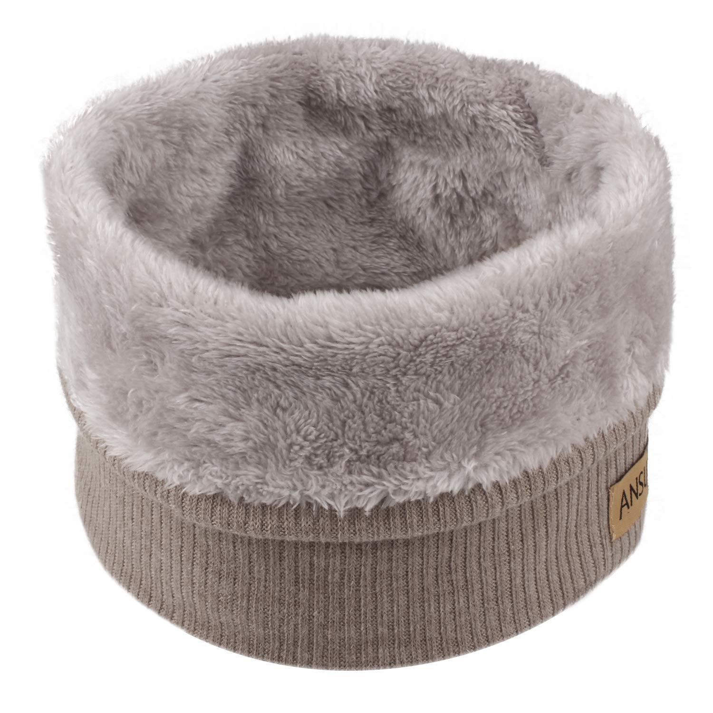 ANSUG Bufanda de punto unisex, Bufanda de cuello de invierno engrosada Bufanda de cuello de pañ uelo de piel para hombres y mujeres Deportes al aire libre