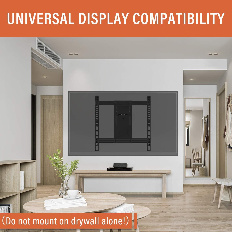 PUTORSEN/® TV Wandhalterung Schwenkbar Neigbar max.VESA 400x400mm f/ür 32-70zoll Flach /& Curved Fernseher oder Monitor bis zu 50kg