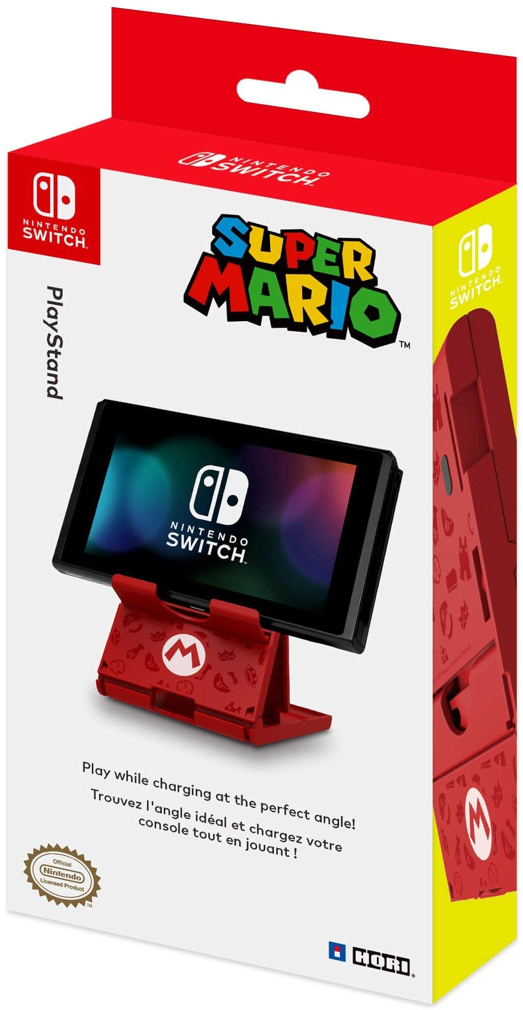 HORI Compact PlayStand - Mario Edition, Officially Licensed by Nintendo - Nintendo Switch by Hori