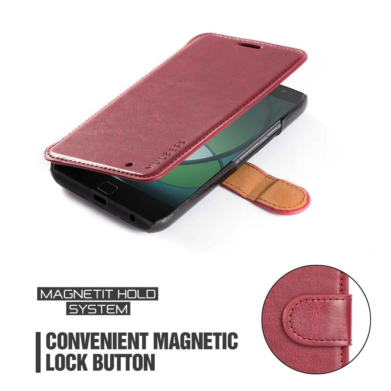 best sneakers 2600f 34cda Motorola Moto G4 Play Case - Mulbess PU Leather Flip Case Cover for Lenovo  Motorola Moto G4 Play Wallet Wine Red