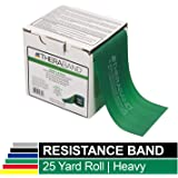 TheraBand Resistance Band 22m Roll, Heavy Green Non-Latex Professional Elastic Bands For Upper & Lower Body Exercise Workouts, Physical Therapy, Pilates, Rehab, Dispenser Box, Intermediate Level 4