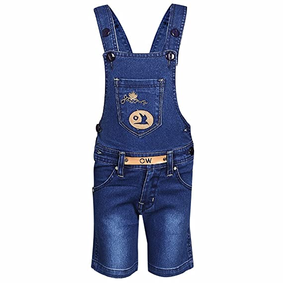 a5b19c3267d FirstClap Denim Short(Knee Length) Dungaree for boys   girls