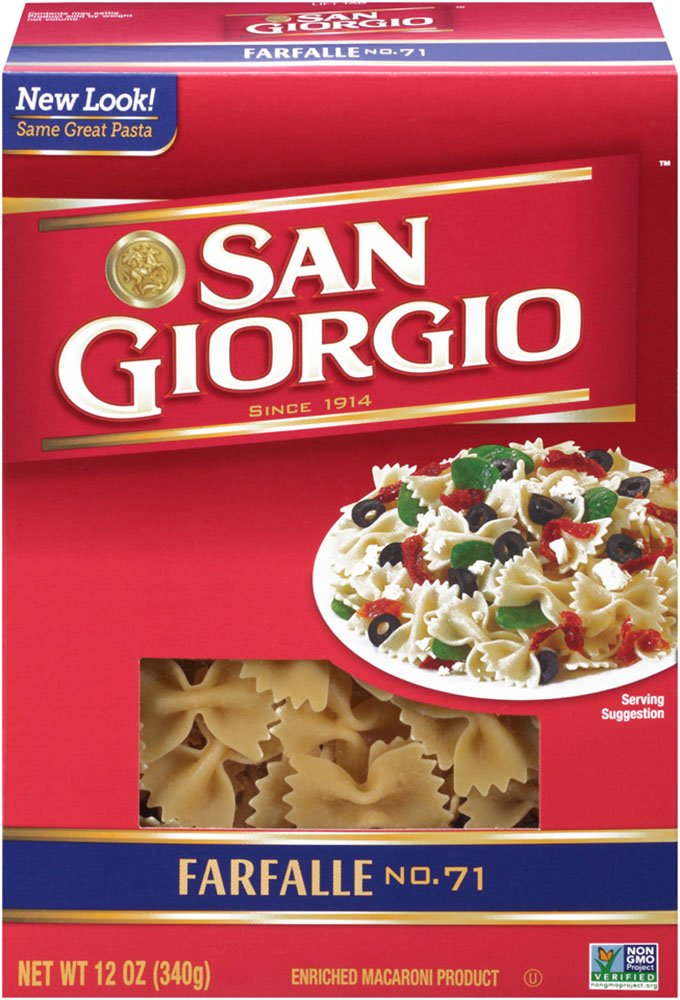 San Giorgio Farfalle, 12-Ounce (Pack of 12) by San Giorgio