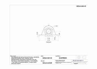 "Details about  /SEALMASTER PILLOW BLOCK BEARING  SP30  1-7//8/""   NEW"