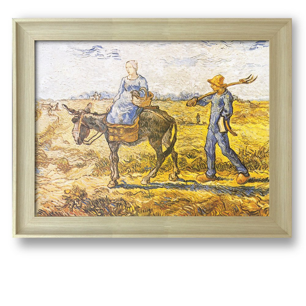 Peasant Couple Going to Work (After Millet) by Vincent Van Gogh ...