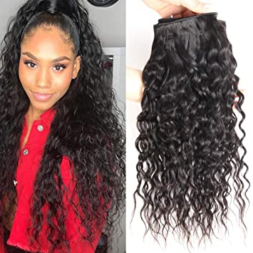 Amazon Com Ms Taj Brazilian Water Wave Virgin Hair 3 Bundles 8a