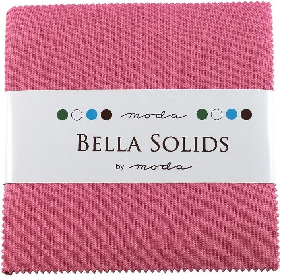 Bella Solids 30s Pink Moda Charm Pack by Moda Fabrics; 42-5