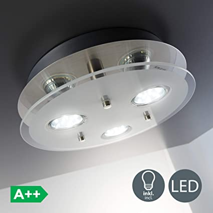 Pleasant Bklicht Round Ceiling Light Led Ceiling Light Eco Friendly Lighting Led Glass Lamp 3 X 3 W 250 Lumen Kitchen Led Light Classic Finish Home Interior And Landscaping Ponolsignezvosmurscom