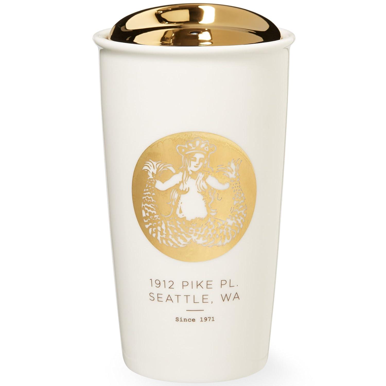 Amazon.com: Starbucks Pike Place Double Wall Traveler Mug, Holiday ...