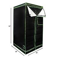MILLIARD Horticulture D-Door 36`` x 36`` x 73`` Grow Tent
