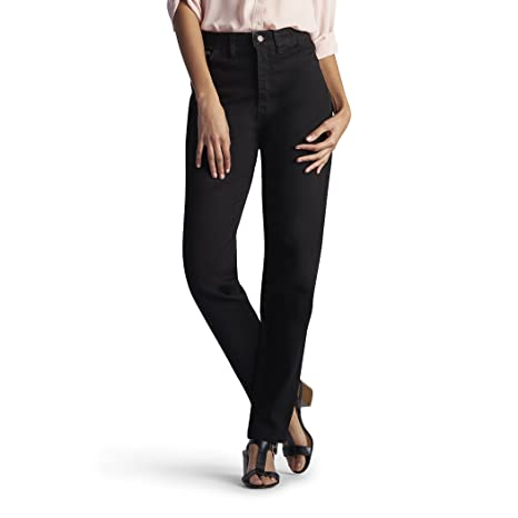 e316879d3d6 Lee Women s Missy Relaxed-Fit Side Elastic Tapered-Leg Jean