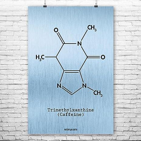8 x 8 art prints amazoncom caffeine molecule poster science art print blue steel