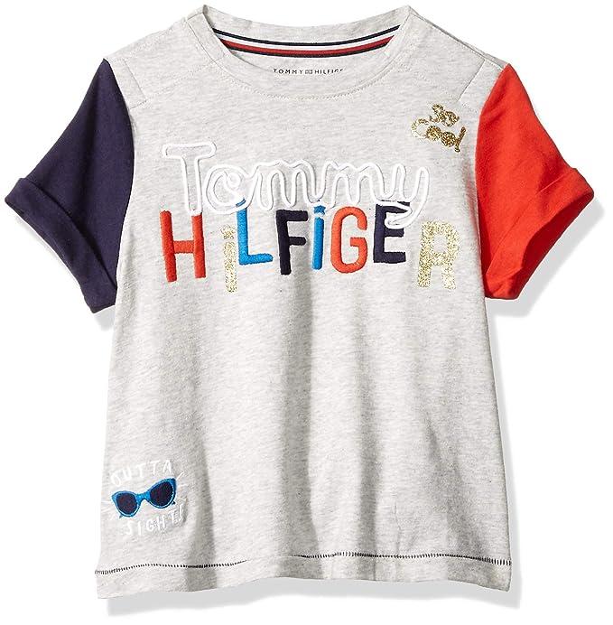 überlegene Materialien riesige Auswahl an neue Sachen Amazon.com: Tommy Hilfiger Girls' Adaptive Signature T Shirt ...