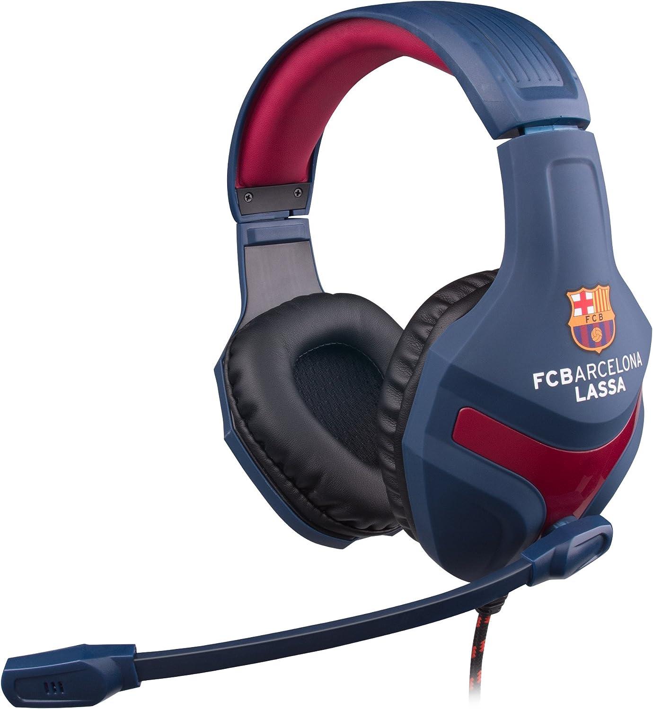 MARSGAMING MHBC Auriculares Gaming del FC Barcelona Lassa (micrófono Plegable, 40mm neodimio, Diadema Ajustable, Producto Oficial Euroliga), Azul