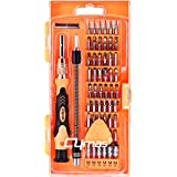 Cymas Screwdriver Set, 58 in 1 with 54 Bits Magnetic Driver Kit,Precise Screwdriver Set Repair &Disassemble Tool Kit for Cell Phone, Tablet, Clock, Game Console ,etc.