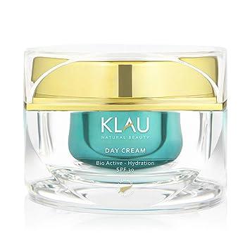 KLAU Crema hidratante Bio, anti edad con protección SPF 30 + - 50 ml