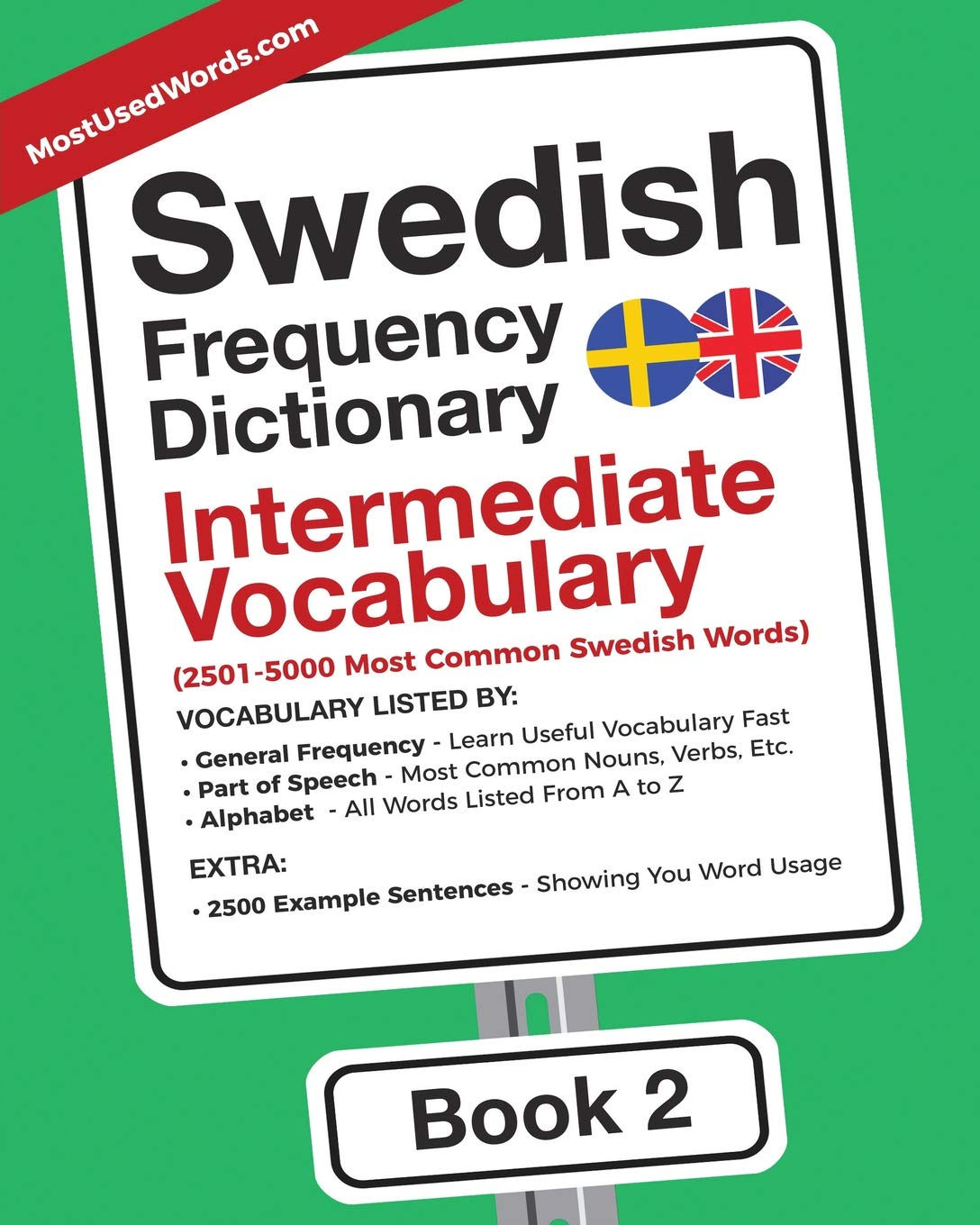 Swedish Frequency Dictionary   Intermediate Vocabulary  2501 5000 Most Common Swedish Words  Swedish English Band 2