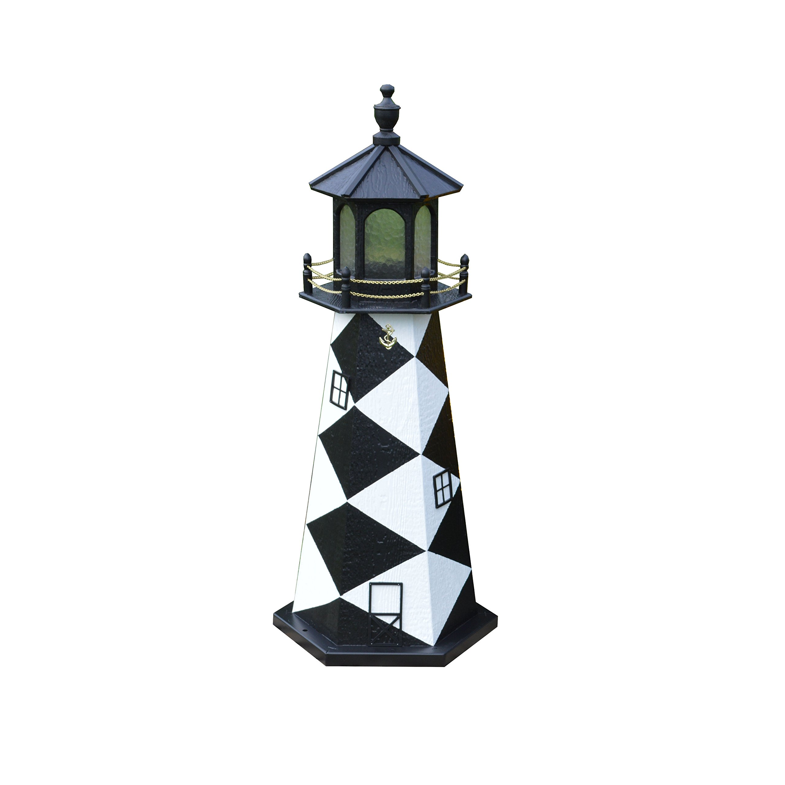 4 Ft Deluxe LighthousesReplicated USA Lighthouses - Cape Lookout, NC