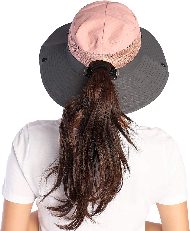 VICSPORT Cappello da Sole Donna Cappello Secchio Cappelli da Pesca Allaperto Protezione UV