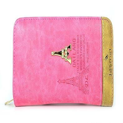 Jd Bags Pink Colour Leather Material Zipper Closure Women Handbag