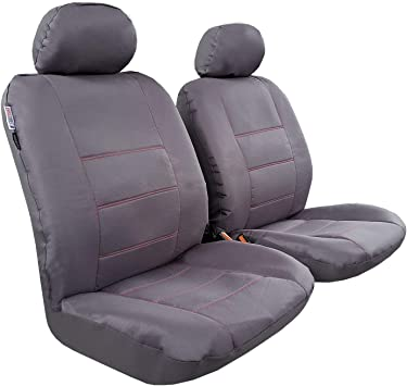2 x Fronts Red Waterproof Front Seat Covers for MOTORHOMES