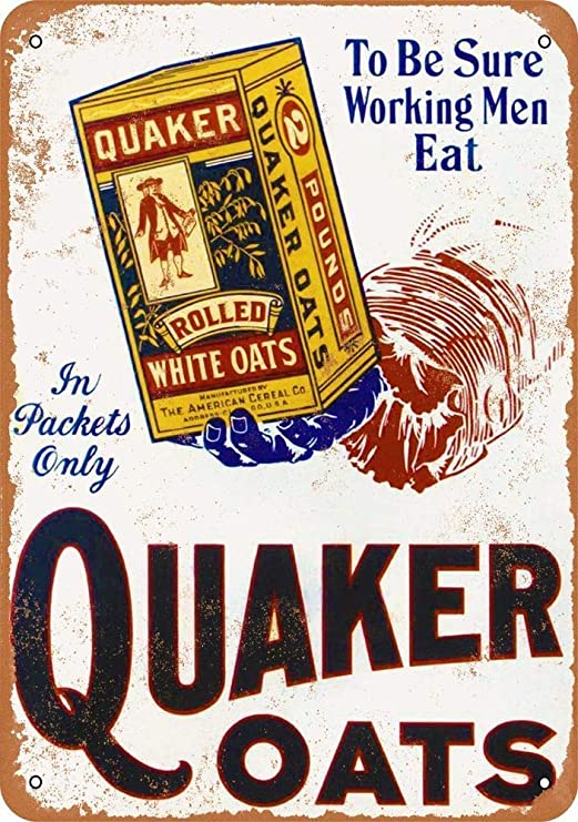 Toddrick Quaker Rolled White Oats Cartel de Chapa Estilo ...