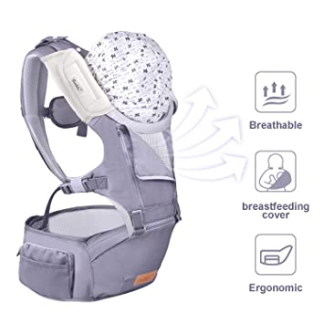 3-In-1 Convertible Breathable Child Carrier Camping Baby Backpack 8-32lbs Summer