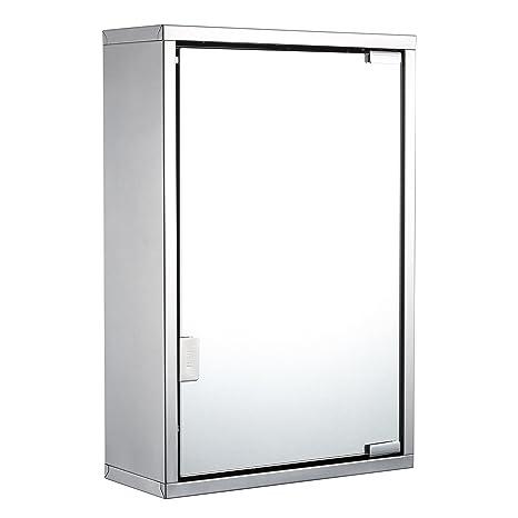Harima - Gabinete Espejo de Baño con Espejo y 2 estantes e53457261c1d